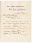 1886 February 23: Report, of violations of the internal revenue law; M.H. Sandels, U.S. attorney; Rufus Forrister, offender, retailing liquor without payment of special tax; Emanuel Parker, witnesses; Thomas H. Simms, collector