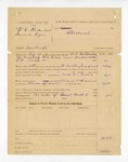 1886 March 8: Partial voucher, U.S. v. W.C. Rice and Samuel Dyer, contempt; includes cost of warrant, mileage, and feeding prisoner; W.A. Mitchell, deputy marshal