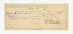 1886 February 27: Voucher, U.S. v. James Crittenden, assault in the Indian Country; includes cost of mileage and feeding prisoner; G.G. Tyson, deputy marshal; E.B. Harrison, commissioner; Silas Andrews, posse comitatus; R.B. Hays, guard; Bud Thamman, William Tutle, Jeff Muskrat, James Muskrat, Jeff Lichinke, Rufus Dowing witnesses; attached, voucher, U.S. v. Charley Galcutcher, introducing spirituous liquors into Indian Country; includes cost of warrant and mileage; attached, letter of certification for services rendered as guard