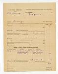 1886 February 6: Partial voucher, U.S. v. F.W. Orick, larceny; includes cost of subpoenas; Jerry Martin, Bob Archer, Dr. Denny, witnesses