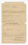 1886 March 22: Voucher, U.S. v. John McFLoyd, assault with intent to kill in the Indian Country; includes cost of subpoena; John T. Tufts, witness;  J.E. Richardson, deputy marshal; Stephen Wheeler, clerk; John Carroll, U.S. marshal