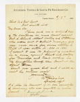 1886 March 10: Letter, to Clerk, U.S. District Court, from William Higgins, special agent; requesting a copy of sentenceing in cases against Fred A. Blank, Albert Wollen and William McKinney for use in upcoming case