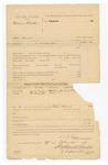 1886 March 29: Voucher, U.S. v. William Christie, murder; includes cost of subpoena; Jackson (last name missing), witness; S.J.B. Fair, deputy marshal; Stephen Wheeler, clerk; S.A. Williams, deputy clerk; John Carroll, U.S. marshal