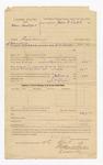 1886 April 10: Voucher, U.S. v. Don Hedger, larceny; includes cost of commitment and feeding prisoner; J.W. Shafer, guard; W.W. Fields, deputy marshal; John Q. Tufts, commissioner; Stephen Wheeler, clerk; S.A. Williams, deputy clerk; John Carroll, U.S. marshal