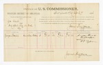 1886 April 9: Voucher, U.S. v. George Leek, introducing spirituous liquor into Indian Country; includes cost of per diem and mileage; George Roach, witness; G.G. Tyson, witness to signature; John Carroll, U.S. marshal; James Brizzolara, commissioner