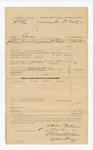 1886 December 13: Voucher, U.S. v. H.C. Ray, larceny; includes cost of mittimus and mileage returning prisoner; William Fields, deputy marshal; John Q. Tufts, commissioner; Stephen Wheeler, clerk; S.A. Williams, deputy clerk; John Carroll, U.S. marshal