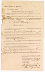 1887 September 30: Mittimus, to await sentencing for Simon Lecondyne, murder; J.C. Pettigrew, deputy marshal; John Carroll, U.S. marshal; Stephen Wheeler, clerk; Ed Haglin, deputy clerk