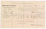 1887 May 2: Voucher, U.S. v. B.J. Allen, murder; includes cost of per diem and mileage; J.W. Callahan, Robert Daniels, George O. Hancock, witnesses; John Carroll, U.S. marshal; Stephen Wheeler, commissioner
