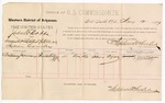 1887 May 2: Voucher, U.S. v. John W. Dobbs, assault with intent to kill; includes cost of per diem and mileage; William Juneway, witness; John Carroll, U.S. marshal; Stephen Wheeler, commissioner