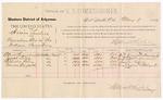 1887 May 9: Voucher, U.S. v. Hiram Landers, manslaughter; includes cost of per diem and mileage; Alex Simmons, Joseph Lotta, Charles Riley, Thomas Warfield, witnesses; John Carroll, U.S. marshal; Stephen Wheeler, commissioner