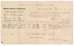 1887 May 10: Voucher, U.S. v. Clint Boatwright, larceny; includes cost of per diem and mileage; John Bohannon, Israel Williams, Jim Christie, witnesses; John Carroll, U.S. marshal; Stephen Wheeler, commissioner