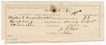 1887 May 11: Voucher, U.S. v. J.H. Miller, murder; includes cost of warrants, mileage, and feeding prisoner; J.S. Rushing, deputy marshal; Stephen Wheeler, commissioner; Pike Durant, posse comitatus; J.G. Farr, guard; Jo Johnson, W.A. Moody, W.N. Cook, John Jorgan, William Russell, witnesses; attached, voucher, U.S. v. Clint Boatright, larceny; John Bohannon, Simon Christie, Isreal Williams, witnesses; Ed Haglan, deputy clerk; attached, letter of certification for services as guard