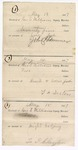 1887 May 15: Receipt, of George E. Williams, deputy marshal, for horse feed to John Hammer; attached, receipt, for board and horse feed to T.D. Sexton; attached, receipt, for night lodging to L.P. Clayton