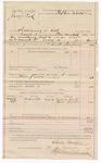 1887 May 19: Voucher, U.S. v. Jerry Reed, threatening to kill; includes cost of mileage and feeding prisoner; Charles Barnhill, deputy marshal; John Carroll, U.S. marshal; Mary Reed, Jane Jordan, witnesses; Stephen Wheeler, commissioner