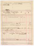 1887 May 30: Voucher, U.S. v. Dock Tucker, larceny; includes cost of mileage and feeding prisoner; Thomas Overstreet, John Robertson, witnesses; Stephen Wheeler, commissioner; James Simes, posse comitatus
