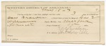 1887 May 20: Voucher, U.S. v. Dan Brown, retail liquor dealer; includes cost of night's lodging and mileage; G.E. Williams, deputy marshal; W.C. Lovelace, guard