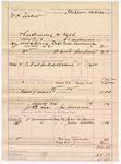 1887 May 24: Voucher, U.S. v. W.H. Calier, threatening to kill; includes cost of mileage and food; G.E. Williams, deputy marshal; Stephen Wheeler, commissioner; John Williams, John Walker, witnesses; J.B. Lee, posse comitatus; James Haggard, guard