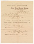 1887 May 23: Report, of violations of the internal revenue law; M.H. Sandels, district attorney; Dock King, offender, retailing liquor without payment of special tax; Tom Brannen, Sid McLaughlin, Web McLaughlin, witnesses; Thomas H. Simms, collection