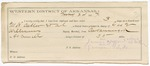 1887 May 24: Letter of certification, for employment as guard over M.H. Caller, et.al; George E. Williams, deputy marshal; James Hofferd, guard; Ed McKinney, witness of signatures