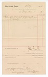 1887 May 25: Voucher, to Henry Kiser; includes cost of hauling corpse of J.H. Cummins from jail to cemetery; John Carroll, U.S. marshal