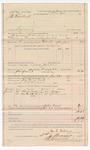 1887 August 5: Voucher, U.S. v. J.H. Hornback, larceny; includes cost of warrant and feeding prisoner; George E. Williams, deputy marshal; John Carroll, U.S. marshal; J.S. Smart, J.M. Sherrick, witnesses; Stephen Wheeler, commissioner and clerk