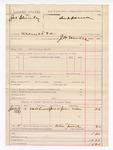 1887 June 10: Voucher, U.S. v. Joe Stanley, assault with intent to kill; includes cost of subpoena for witness; J.W. Everidge, deputy marshal; John Miles, witness