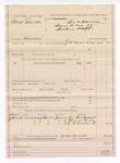 1887 June 9: Voucher, U.S. v. Mat Marble, murder; includes cost of subpoenas for witnesses; James W. Everidge, deputy marshal; James Castellow, Frank Godde, J.C. Cleveland, witnesses