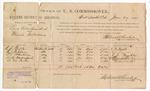 1887 June 27: Voucher, U.S. v. Levi Valentine et.al, illicit distilling; includes cost of per diem and mileage; R.F. Phipps, E.J. Wiggins, T.L. Franklin, W.B. Davenport, C.M. Park, witnesses; John Carroll, U.S. marshal; Stephen Wheeler, commissioner