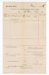 1887 June 30: Voucher, to B. Baer & Co.; includes cost for oil used at U.S. Jail; John Carroll, U.S. marshal