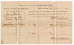 1887 June 30: Voucher, U.S. v. James Johnson, larceny; includes cost of per diem and mileage; James Kane, William Lewis, witnesses; John Carroll, U.S. marshal; Stephen Wheeler, commissioner