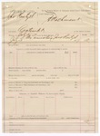 1887 July 4: Voucher, U.S. v. Jonathan Reitzel, contempt; includes cost for arresting