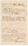 1887 July 23: Voucher, to Abram Barnhill, of Fort Smith, Arkansas, for assisting Jonathan Phillips, deputy marshal, in U.S. v. William Phillips, U.S. v. James Edgar; Stephen Wheeler, commissioner and clerk; John Carroll, U.S. marshal