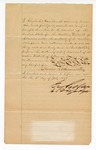 1887 July 6: Oath of Office, for Charles R.V. Hamilton, deputy marshal; Isaac C. Parker, signature of judge