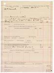 1887 July 8: Voucher, U.S. v. W.F. Beard, manslaughter; includes cost of warrant and discharging prisoner; J.C. Pittigrew, deputy marshal