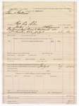 1887 July 11: Voucher, U.S. v. Grant Holland, retail liquor dealer; includes cost of warrant; W.H. Cravens, deputy marshal