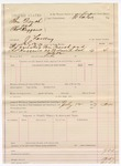 1887 July 12: Voucher, U.S. v. Tom French and Charles Huggans, larceny; includes cost of warrant; Stephen Wheeler, commissioner