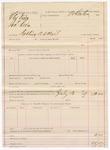1887 July 13: Voucher, U.S. v. Alex Dixon and Jonathan Dixon, robbing U.S. mail; includes cost of warrant; Stephen Wheeler, commissioner