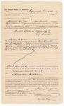 1887 August 8: Voucher, to Samuel Frazier, of Fort Smith, Arkansas, for assisting B. Connelley, deputy marshal, in U.S. v. Elish Ball, U.S. v. John Ball, U.S. v. Taf Landers; Stephen Wheeler, clerk; Ed Haglin, deputy clerk; John Carroll, U.S. marshal