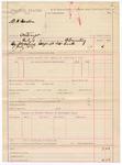 1887 July 14: Voucher, U.S. v. B.H. Barion, contempt; B. Connelley, deputy marshal