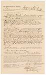1887 July 20: Voucher, to Jackson Kemp, of Colbert's Station, Chickasaw Nation, for assisting Charles Laflore, deputy marshal, in U.S. v. Charles Wright, Dennis Williams, Joe Burris, Will Burris, One Massery, Bill Natherby, Mum Johnson, John Weaver, Clide Halden, Marion Ables, Price Keener; John Carroll, U.S. marshal; James Q. Tufts, commissioner; Stephen Wheeler, clerk; Ed Haglin, deputy clerk; J.C. Pettigrew, witness of signature