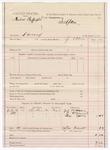 1887 August 9: Voucher, U.S. v. Ambros Buffington, larceny; includes cost of mileage; J. Ellis, deputy marshal; J.M. Brown, P. McDaniel, Thomas Cates, witnesses