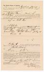 1887 August 5: Voucher, to Jackson Moore, Fort Smith, Arkansas, for assisting J.R. Cole, deputy marshal, in U.S. v. Will Max; Stephen Wheeler, commissioner and clerk; Ed Haglin, deputy clerk; John Carroll, U.S. marshal