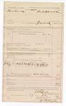 1887 July 27: Voucher, U.S. v. Columbus Cox; includes cost of mileage; J.M. Dick, deputy marshal; Mr. Willsey, W. Paton, witnesses; Stephen Wheeler, clerk; Ed Hagnin, deputy clerk