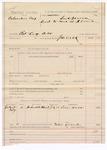 1887 July 22: Voucher, U.S. v. Columbus Cox, retail liquor dealer; includes cost of mileage; J.M. Dick, deputy marshal; Louis Hobbs, witness