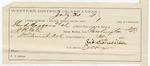 1887 May 31: Voucher, U.S. v. Sherd Huggins, John Middleton and Charles Huggins, larceny; includes cost for subpoena for witness; George McMurra, witness; James Simes, posse comitatus; Richard Stonesiphe, guard; Steven Wheeler, commissioner