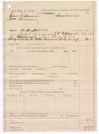 1887 July 20: Voucher, U.S. v. John W. Owens and William Cravens; includes cost of warrant; J.C. Pettigrew, deputy marshal