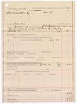 1887 July 20: Voucher, U.S. v. Cornelius Island, murder; includes cost of warrant; J.C. Pettigrew, deputy marshal