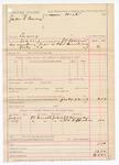 1887 July 23: Voucher, U.S. v. John S. Pearcy, larceny; includes cost of warrant; J.C. Pettigrew, deputy marshal; J.J. Kinnly, William Hufferman, witnesses