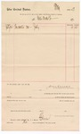 1887 July 24: Voucher, to Water Works Co.; includes cost of water for July; John Carroll, U.S. marshal