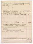 1887 July 27: Voucher, U.S. v. Tom Carey, larceny; includes cost of mileage and feeding prisoner; James T. Tufts, commissioner